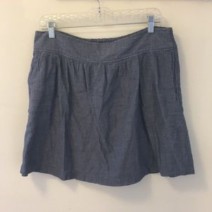 Chambray skirt with pockets!